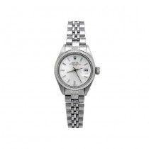 26mm Rolex Stainless Steel Oyster Perpetual Date Watch 6917