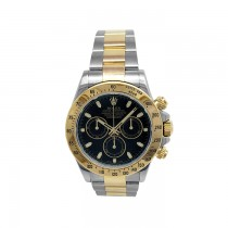 40mm Rolex 18k Gold & Stainless Steel Oyster Perpetual Daytona Watch 116523