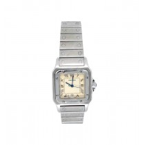 Midsize Cartier Stainless Steel Santos Galbee Watch