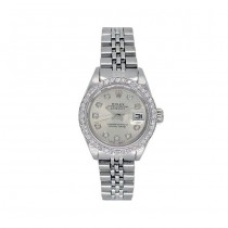 26mm Rolex Stainless Steel Oyster Perpetual Datejust Watch 6917