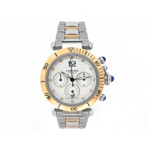 Cartier 18k Yellow Gold and Stainless Steel Pasha Watch 34621