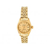 26mm Rolex 18k Yellow Gold Oyster Perpetual Datejust Watch