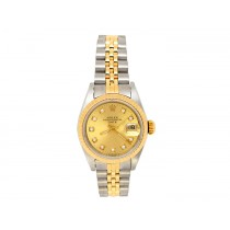 Rolex 18k Yellow Gold and Stainless Steel Datejust Watch 34664