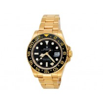 40mm Rolex 18k Yellow Gold Oyster Perpetual GMT-Master II Watch