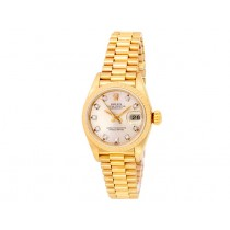 26mm Rolex 18k Yellow Gold Oyster Perpetual Datejust Watch 69138