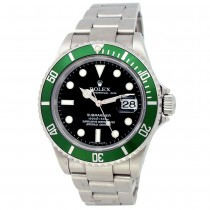 """40mm Rolex Stainless Steel Oyster Perpetual Submariner """"Kermit"""" Watch"""