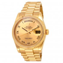 36mm Rolex 18k Yellow Gold Oyster Perpetual Daydate Watch