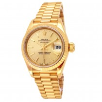 26mm Rolex 18K Yellow Gold Oyster Perpetual Datejust Lady President Watch