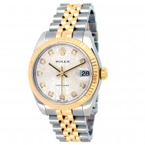 31mm Rolex 18k Yellow Gold and Stainless Steel Oyster Perpetual Datejust Watch