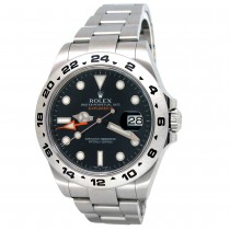 42mm Rolex Stainless Steel Oyster Perpetual Explorer II Watch