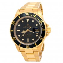 40mm Rolex 18k Yellow Gold Oyster Perpetual Submariner Date Watch