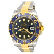 40mm Rolex 18k Yellow Gold and Stainless Steel Oyster Perpetual Submariner Date Watch