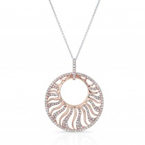 ROSE GOLD CONTEMPORARY CIRCLE DIAMOND PENDANT