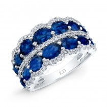 NATURAL COLOR WHITE GOLD SAPPHIRE FASHION DIAMOND RING