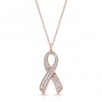 ROSE GOLD INSPIRED RIBBON DIAMOND PENDANT