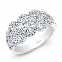 WHITE GOLD INSPIRED FASHION DIAMOND WAVE BAND