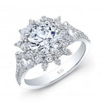 WHITE GOLD DAZZLING FASHION DIAMOND ENGAGEMENT RING