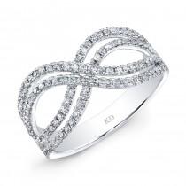 WHITE GOLD INFINITY  FASHION DIAMOND RING