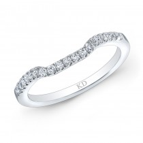 14K SINGLE ROW CLASSIC DIAMOND WEDDING BAND