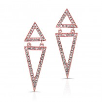 ROSE GOLD TRENDY VOUGE DIAMOND EARRINGS