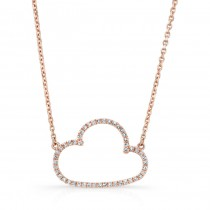 ROSE GOLD TRENDY CLOUD DIAMOND PENDANT