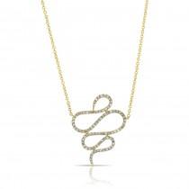 YELLOW GOLD INSPIRED SWIRL DIAMOND PENDANT