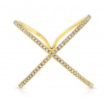 YELLOW GOLD INSPIRED INFINITY X DIAMOND RING