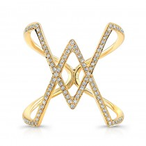 YELLOW GOLD INSPIRED RHOMBUS DIAMOND RING