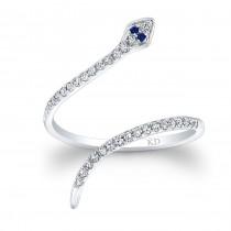 WHITE GOLD CLEOPATRA SNAKE FASHION DIAMOND RING