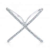 WHITE GOLD INSPIRED INFINITY X DIAMOND RING