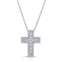 WHITE GOLD ELEGANT DIAMOND CROSS PENDANT