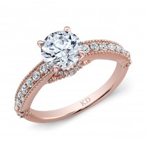 ROSE GOLD CLASSIC DIAMOND ENGAGEMENT RING