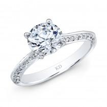 WHITE GOLD CLASSIC DIAMOND ENGAGEMENT RING