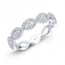 WHITE GOLD TWISTED DIAMOND INFINITY BAND
