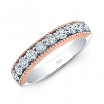 WHITE & ROSE GOLD INSPIRE FASHION DIAMOND BAND