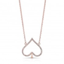 ROSE GOLD TRENDY SPADE DIAMOND PENDANT