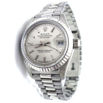 26mm Rolex 18K White Gold President Datejust 69179