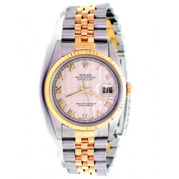 36mm Rolex Datejust  Ivory Pyramid Dial 16233.