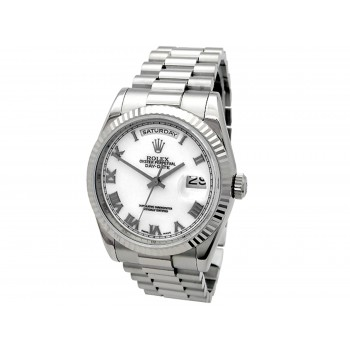 36mm Rolex 18K White Gold Daydate 118239.