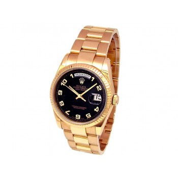 36mm Rolex 18k Rose Gold Daydate 118205.