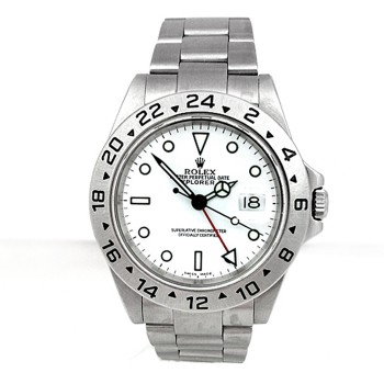 40mm Rolex Stainless Steel Oyster Perpetual Explorer II Watch 16570