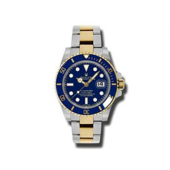 Men's RolexTwo-Tone Submariner Ceramic Blue 116613.