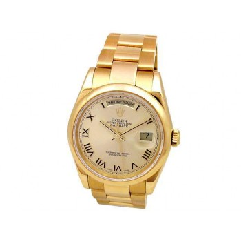 36mm Rolex 18k Yellow Gold Daydate 18208.