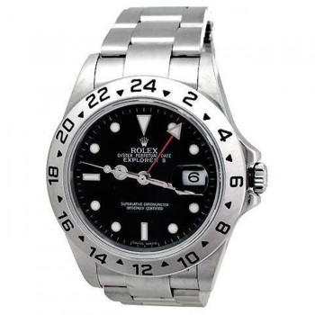 40mm Rolex Stainless Steel Explorer II Black 16570