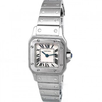 Small Cartier Stainless Steel Santos Galbee