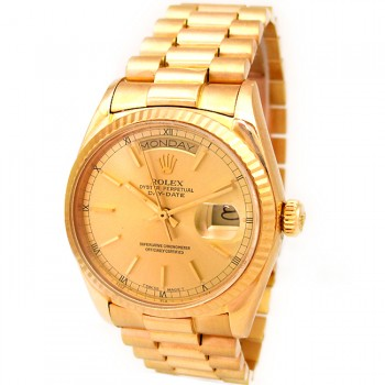 36mm Rolex 18K Yellow Gold Daydate 18038.