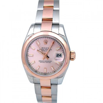 26mm  Rolex Rose Gold & Stainless Steel  Datejust 179161.