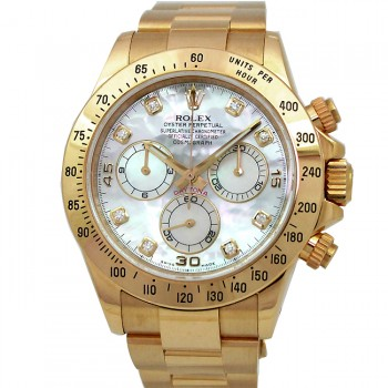 40mm Rolex Gold Daytona MOP Diamond  116528