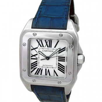 Large Cartier Stainless Steel Santos 100 W20072X7
