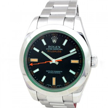 40mm Rolex Steel Milgauss Green 116400GV.